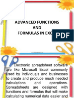 Advanced Functions and Formulas in Excel