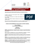 CÓDIGO DE PROCEDIMIENTOS CIVILES DEL DF