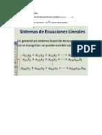 Semana 1 - Conferencia 1 Sistema de Ecuaciones Lineales