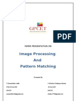Image Processing and Pattern Matching