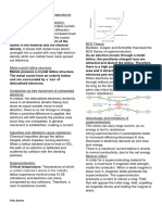 Physics Ideas Superconductor Summary