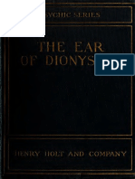 Balfour 1920 the Ear of Dionysius