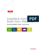 A Plus 220 1001 PDF Exam Objectives