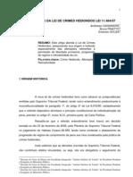 ALTERAÇÕES NA LEI DE CRIMES HEDIONDOS
