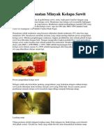 Proses Pembuatan Minyak Kelapa Sawit