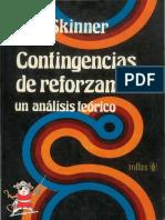 Contingencias de Reforzamiento Un Análisis Teórico - Skinner