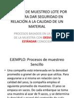 PROCESOS DE MUESTREO CON DESVIACIÓN ESTÁNDAR CONOCIDA