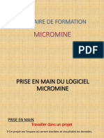 Micromine Formation 3