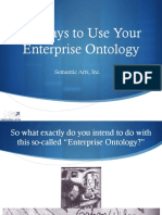 14 Ways to Use Your Enterprise Ontology