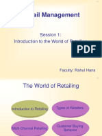 Session - 1 - Introduction to Retail Management