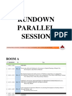 Rundown Parallel Session