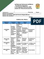 Rubricas Previo Participacion 8-8-18
