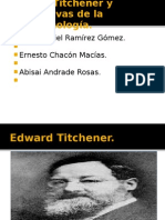 Edward Titchener y alternativas de la fenomenología
