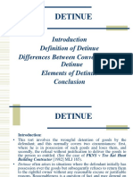 Law of Detinue