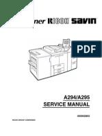 Aficio 1050 Manual de Servicio