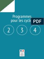 Programmes Cycles 2 3-4-2015