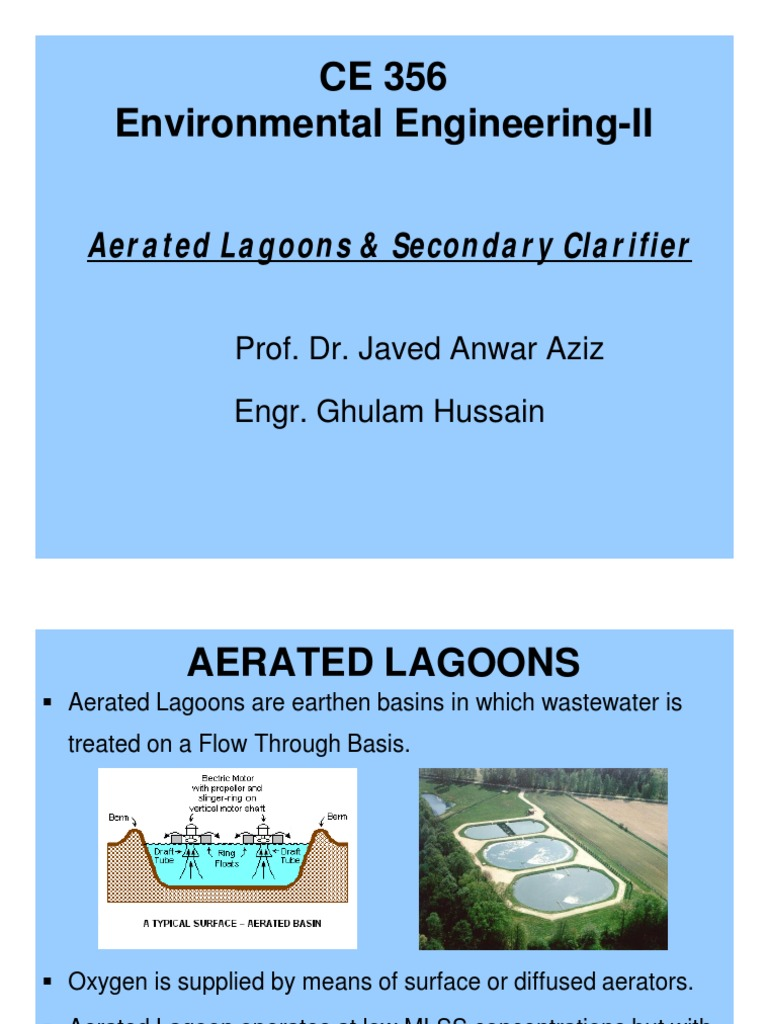 Lec 4- Aerated Lagoons & Secondary Clarifier [Compatibility Mode