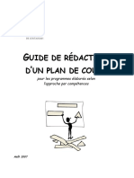 Guide Redaction Plan de Cours