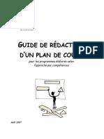 Guide Redaction Plan de Cours