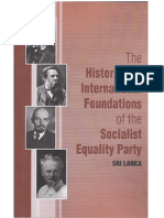 The Historical and International Foundations of the Socialist Equality Party Sri Lanka