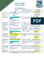 7-10 subject course calendar 2018