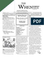 November-December 2003 Wrentit Newsletter ~ Pasadena Audubon Society