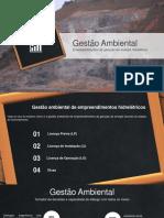 Gestao Ambiental de Empreendimentos Hidrelétricos - Pch