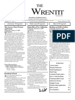 January-February 2007 Wrentit Newsletter ~ Pasadena Audubon Society