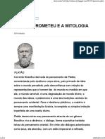Platão, Prometeu e Mitologia