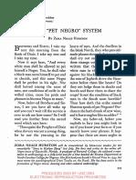 Hurston Pet Negro System
