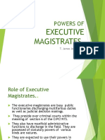 Duties and Responsibilities Of Executive Magistrates- PPT from James Joseph Adhikarathil