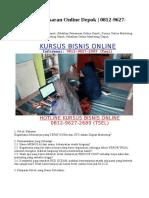 Training Pemasaran Online Depok | 0812-9627-2689