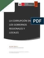 La Corrupción en Gobiernos Regionales y Locales 1