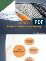 Chapter 5 postulat, prinsip dan konsep