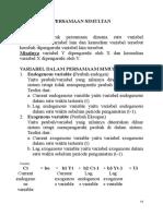 K11 12 Ekonometrika PersamaanSimultan 1