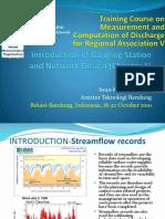 Gauging Streamflow Chapter 1