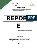 Reporte Amplificador Operacional