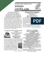 May-Jun 2007 Western Meadowlark Newsletter ~ San Bernardino Valley Audubon Society