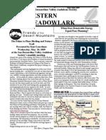 May-Jun 2008 Western Meadowlark Newsletter ~ San Bernardino Valley Audubon Society
