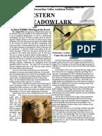 Sep-Oct 2008 Western Meadowlark Newsletter ~ San Bernardino Valley Audubon Society