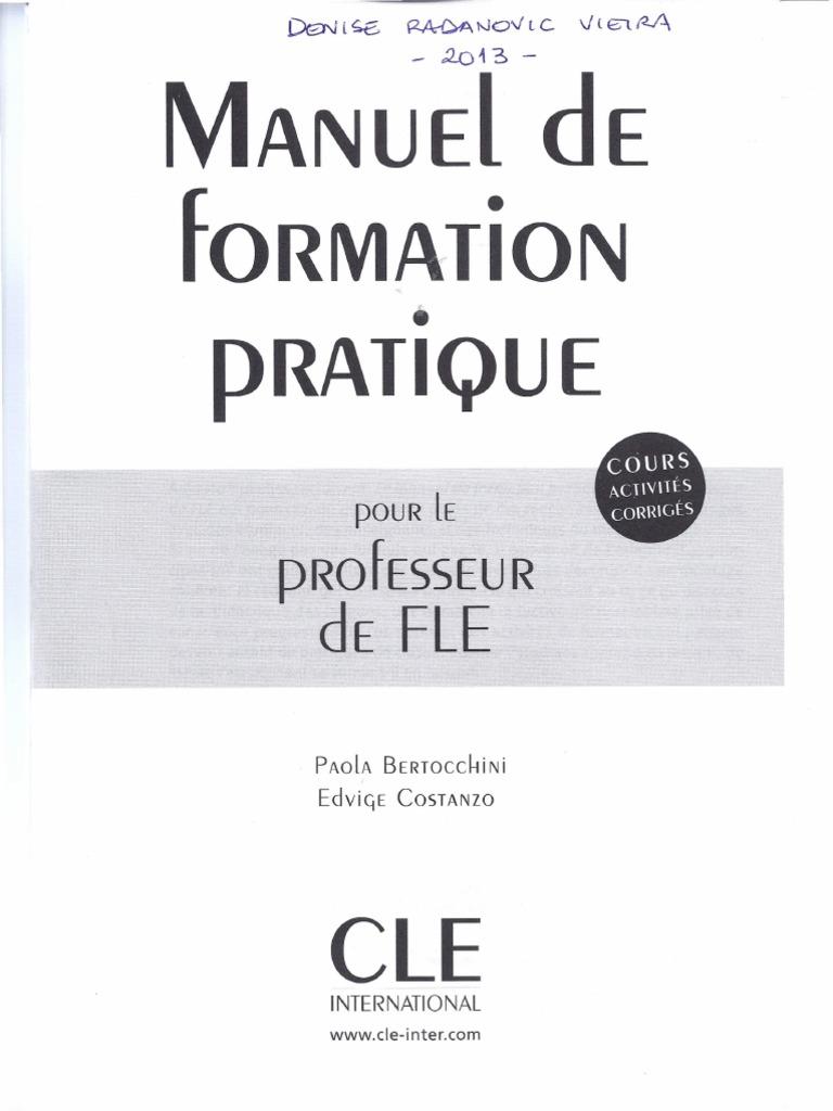 manuel de formation pratique pour le professeur de fle avec activites et corriges