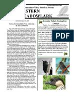 Nov-Dec 2008 Western Meadowlark Newsletter ~ San Bernardino Valley Audubon Society
