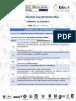 Programación Comunicación Oral