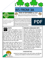 3a newsletter week of september 24 2018