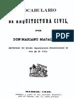 Z6 - Vocabulario de Arquitectura Civil - Matallana - 1848