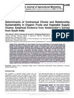 Determinants of Contractual Choice and Relationship Sustainability in Organic Fruits and Vegetable Supply Chains