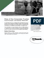 U. S. Bank as Trustee