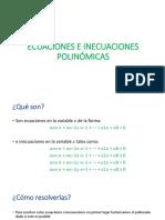 Ecuaciones e Inecuaciones Polinómicas