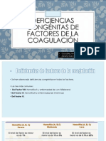 deficiencias de factores de coagulacion