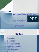 sismograma sintético 1D